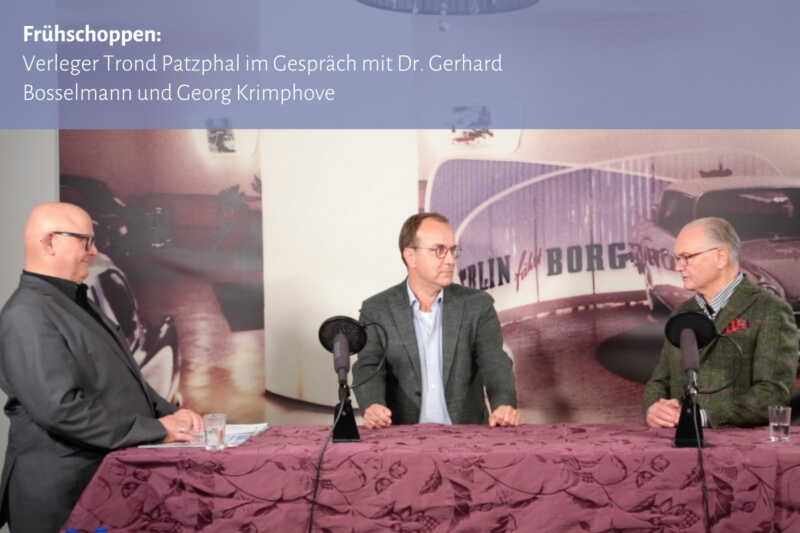 Frühschoppen: Trond Patzphal im Gespräch mit Dr. Gerhard Bosselmann und Georg Krimphove